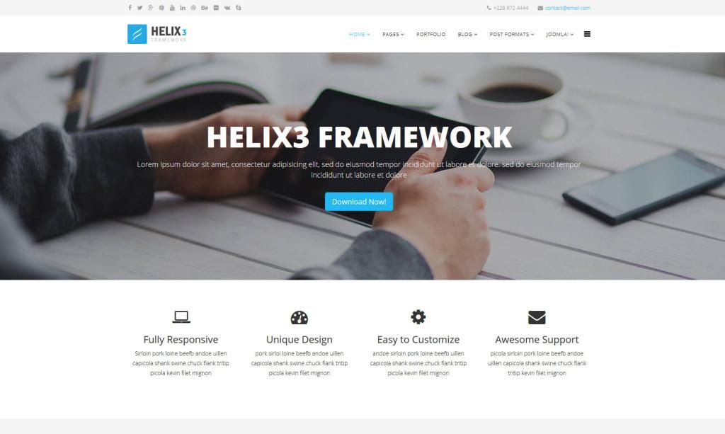Free Joomla Framework and Joomla Blank Template